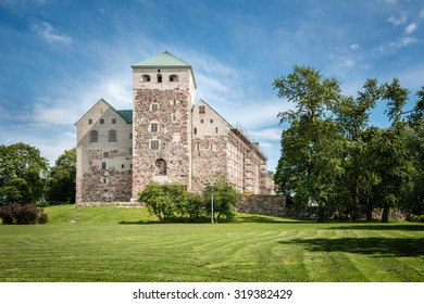Turku Castle in Finland on a bright summer day.