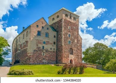 Turku Castle (Ã…bo slott) is the largest medieval building in Finland. Turku. Finland