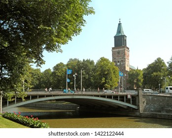 Turku Cathedral, Remarkable Landmark of the City by the River Aura in Turku, Finland, Europe, 24th July 2013