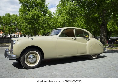 TURKU, FINLAND - JUNE 13, 2015: Car Jaguar Mark IX - the parade of retro cars