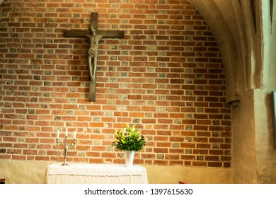 Turku, Finland, MAY the 13th, 2019: an architectural detail of Turku Cathedral on a Sunday morning