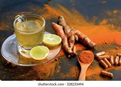 turmeric with lemon tea