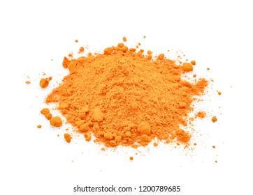 turmeric powder isolated on white background