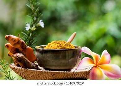 Turmeric Rhizomes and powder have medicinal properties.
