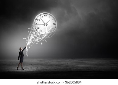 Turn back time - Shutterstock ID 362805884