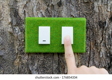 turn off the light ,save energy concept