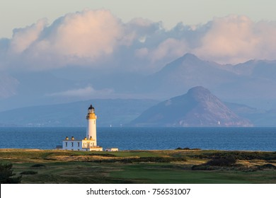 Turnberry Lighthouse and Isle of Arran
