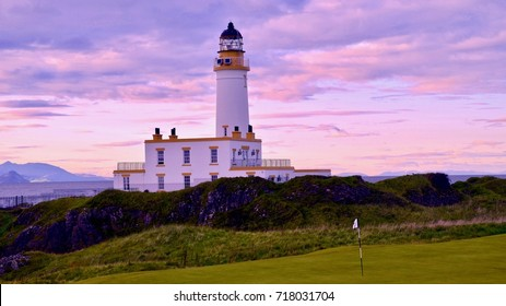 Turnberry Point lighthouse, part of Turnberry hotel and luxury golf resort. Ayrshire, Maybole, Scotland UK. September 2017