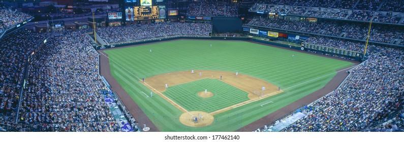 Turner Field at night, World Champion Braves, Atlanta, Georgia