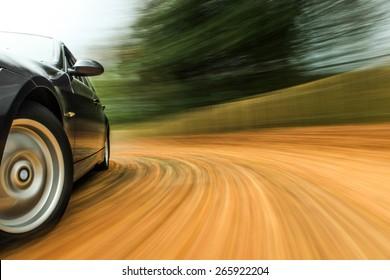 Turning car.