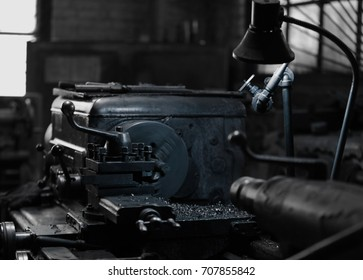 Turning machine in workshop