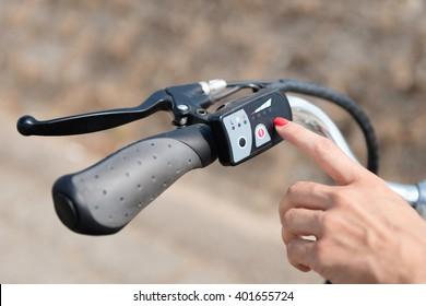 Turning on electric bike or E-bike