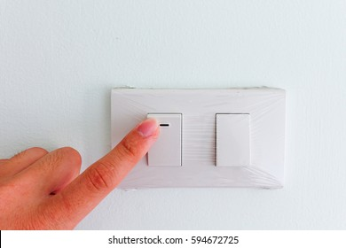 Turning on light switch