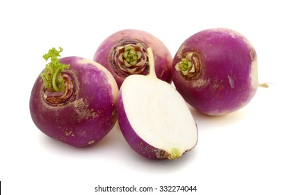 turnips isolated on white