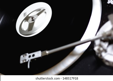 turntable with playing music