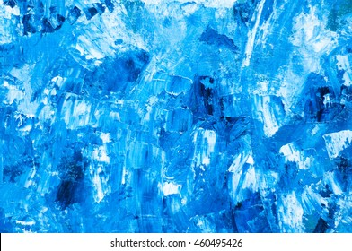 Turquoise blue oil paint texture. Blue Marine pattern.