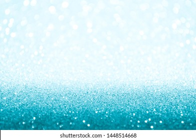 Turquoise Bokeh Background. Festive Backdrop