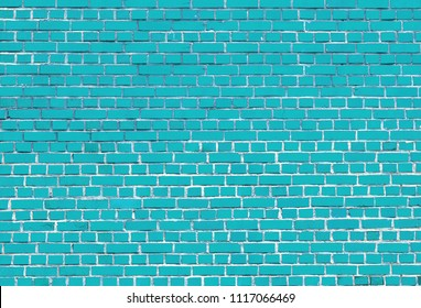 Turquoise Brick Wall Texture