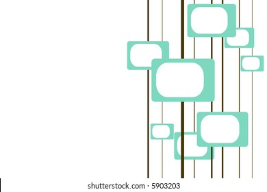 turquoise and brown retro pattern with room for text