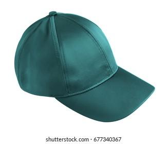 Turquoise cap isolated on white
