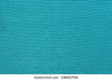 turquoise color knitwear cotton fabric background texture