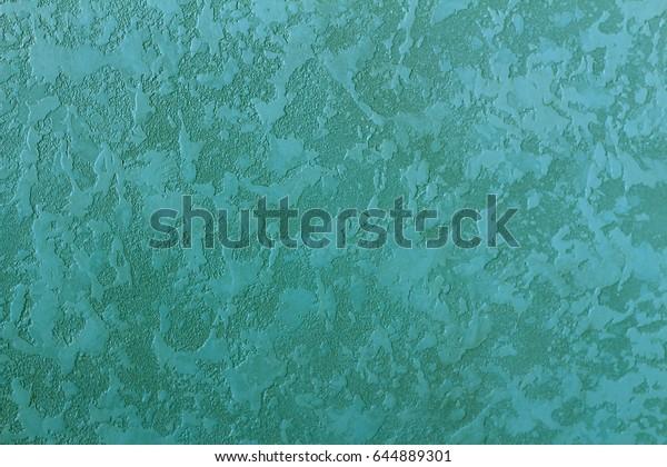Turquoise Color Vintage Wallpaper Background Texture
