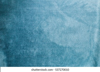 turquoise fabric with a nap