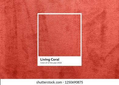 turquoise fabric with a nap pleated. Color of the year 2019 Living Coral.