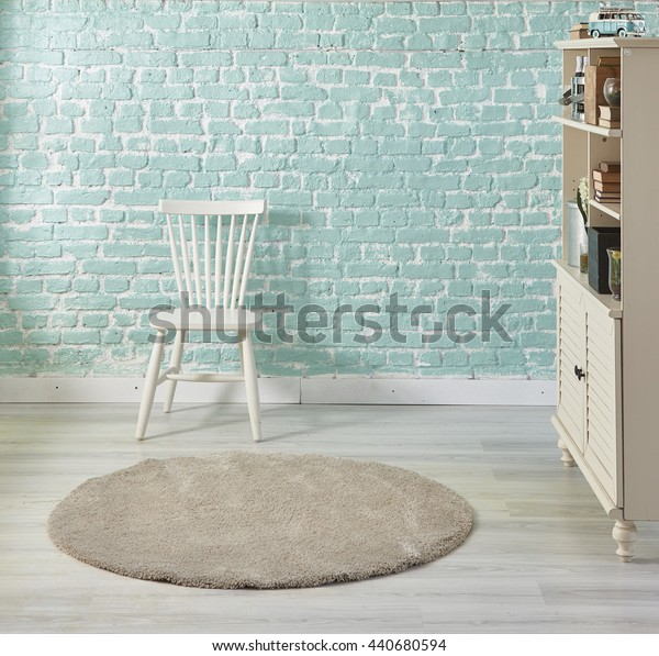 turquoise home white chair and cabinet interior decoration