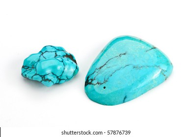 turquoise  Jewel isolated against a white background