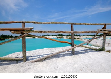 the turquoise kaolin lake of Belitung island