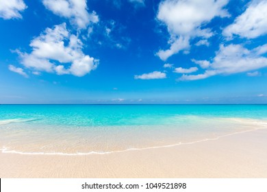 Turquoise lagoons of the tropical island. The beautiful place for restoration of forces, rest, aquatics, suntan and bathing. Warm sea water, white sand, breeze. Luxury hotel.