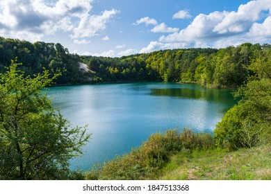 Turquoise Lake in Wolinski National Park at sunny day