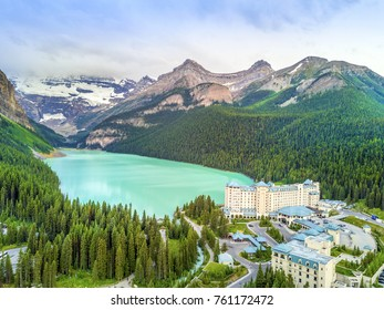 Turquoise Louise Lake in Rockies Mountains, Banff National Park, Alberta, Canada