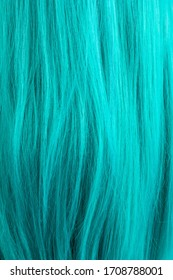 turquoise mannequin wig long hair texture background