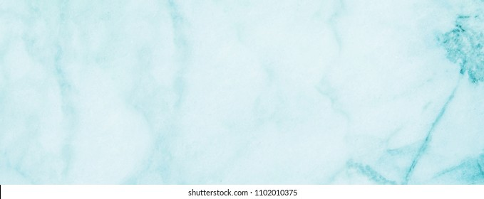Turquoise Marble surface background copy space. Long banner for blogs and web sites
