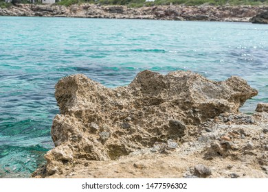turquoise Mediterranean sea waters on the beaches of the island of Mallorca, Balearic Islands, Spain