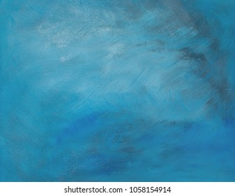 Turquoise oil painting canvas background copy space texture