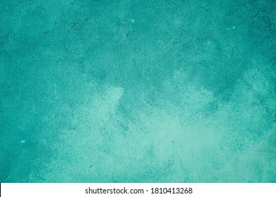 Turquoise painted wall background or texture