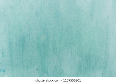 Turquoise painted wooden wall background