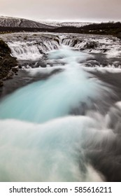 Turquoise river rapids