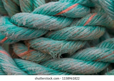 Turquoise rope macro at Peggy's Cove, Nova Scotia