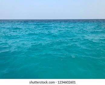 turquoise sea on Maldives island