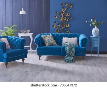 Turquoise Living Room Images, Stock Photos & Vectors | Shutterstock