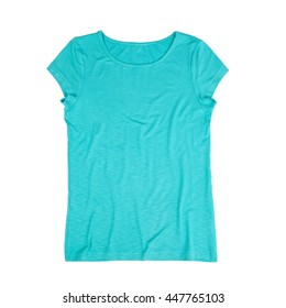 turquoise tank top on a white background