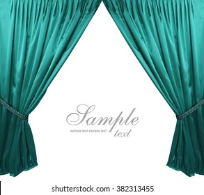 turquoise theater curtain background