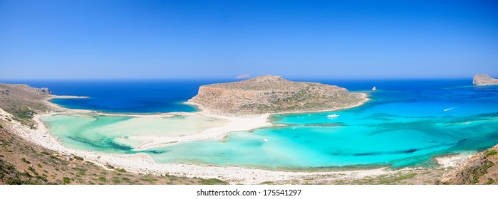 Turquoise water of Balos bay, Crete, Greece.