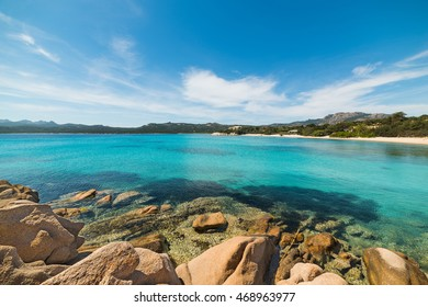 turquoise water in La Celvia beach, Sardinia