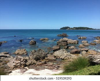 Turquoise water in Main Beach and Mount Maunganui
