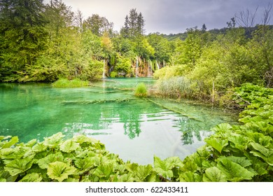 turquoise water in national park Plitvice